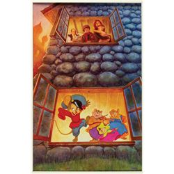 Original An American Tail Poster Concept Painting.