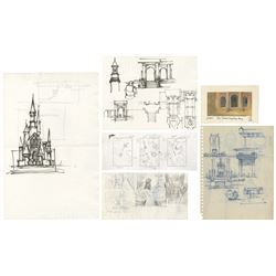 Collection of (6) Shrek & Shrek 2 Production Drawings.