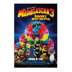 Signed Madagascar 3 Event Poster.