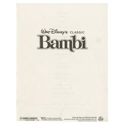 Bambi Press Book Signed by Peter Behn.