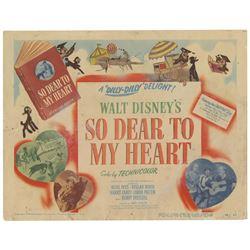 So Dear to My Heart Lobby Card.