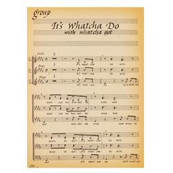 So Dear to My Heart Vocal Arrangement with Notes.
