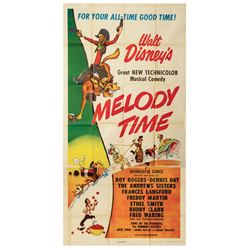 Melody Time 3-Sheet Poster.