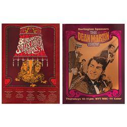 Burlington Sales & The Dean Martin Show Posters.