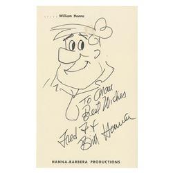 Original Bill Hanna Fred Flintstone Drawing.