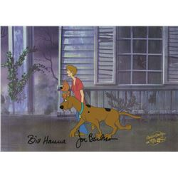 Signed Scooby-Doo Meets the Boo Brothers Animation Cel.