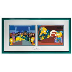 The Simpsons Who Shot Mr. Burns Signed Cels.
