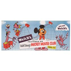 Mickey Mouse Club Welch's Promotional Poster.