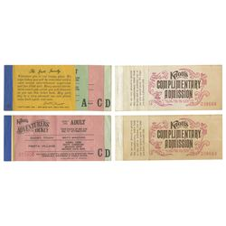 Collection of (4) Knott's Ticket Books.
