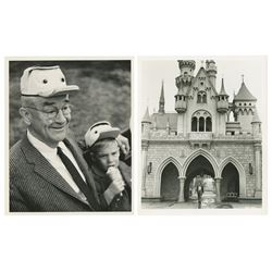 Pair of Marty Sklar Disneyland Publicity Photos.