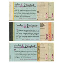 Set of (3) Disneyland Ticket Books from Milt Albright.