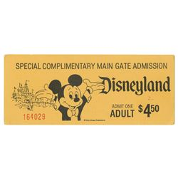 Special Complimentary Admission Ticket.