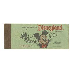 Complete Disneyland Ticket Book.