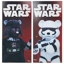 Pair of Downtown Disney Star Wars Build-A-Bear Signs.