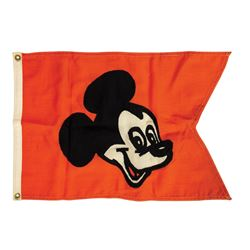 Micky Mouse Main Street Station Flag.