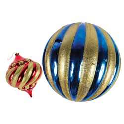 Pair of Large Disneyland Christmas Ornament Props.