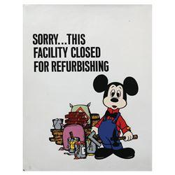 Disneyland Refurbishment Sign Graphic.