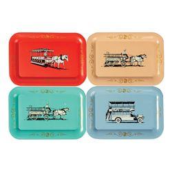 Set of (4) Main Street Vehicle Tin Trays.