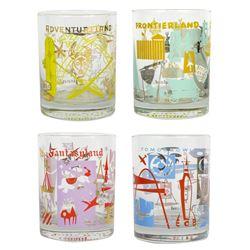 Set of (4) Land Themed Glasses.