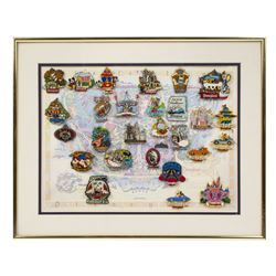 Set of (27) Framed Attraction Pins.