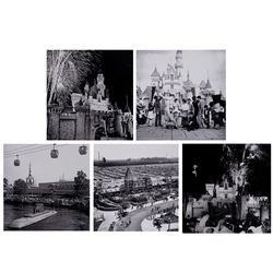 Collection of (5) Large Disneyland Photos.