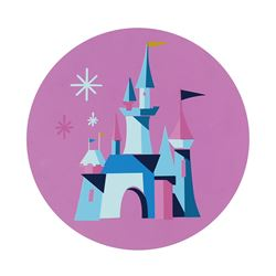Sleeping Beauty Castle Tin Sign.