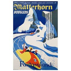 Matterhorn Bobsleds Disney Gallery Attraction Poster.