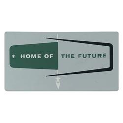 Home of the Future Tin Sign.