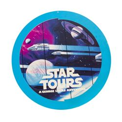 Star Tours & Captain EO Double-Sided Hanging Sign.