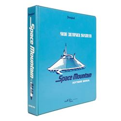 """Space Mountain"" WED Imagineering Manual Binder."