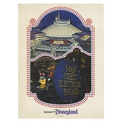 Electrical Parade & Space Mountain Press Packet.
