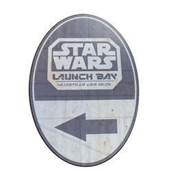 Star Wars Launch Bay Directional Sign.