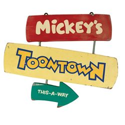 Mickey's Toontown Directional Sign.
