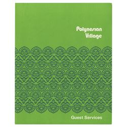 Polynesian Village Guest Services Folder.