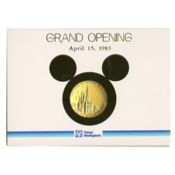 Tokyo Disneyland Grand Opening Commemorative Medallion.