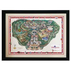 Hong Kong Disneyland Park Map Pin Set.