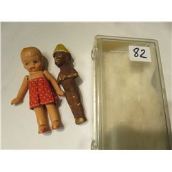VINTAGE BISQUE JOINTED STRING DOLL - AFRICAN DOLL