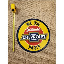 GENUINE CHEVROLET PARTS TIN SIGN
