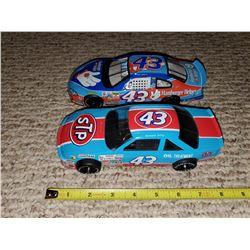 TWO #43 STOCK CARS - JOHN ANDRETTI, RICHARD PETTY