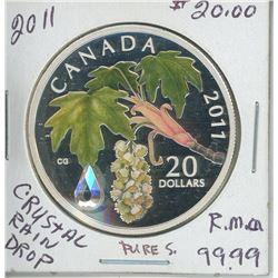 2011 - $20.00 CREPTEL RAIN DROP RCM COIN