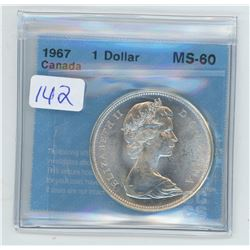 1967 - $1.00 COIN GRADED CCCS