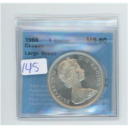 1966 - $1.00 COIN GRADED CCCS