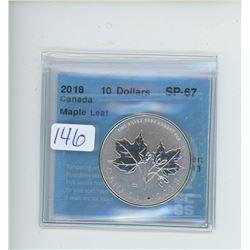 2018 - $10.00 RCM COIN GRADED CCCS