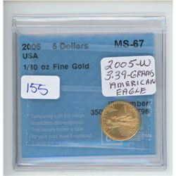 2005 - $5.00 1/10OZ USA GOLD - CCCS
