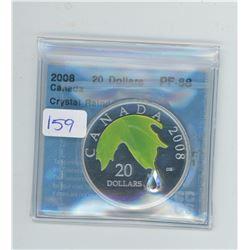 2008 - $20.00 CRYSTAL RAINDROP COIN - RCM - CCCS