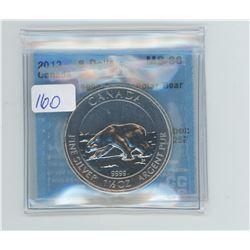 2013 - $8.00 1 1/2 OZ POLAR BEAT RCM - CCCS