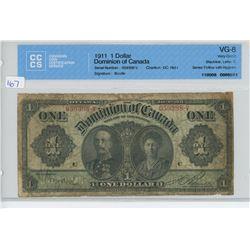 1911 - $1.00 BILL - CCCS