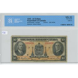 1935 - $10.00 BILL - CCCS