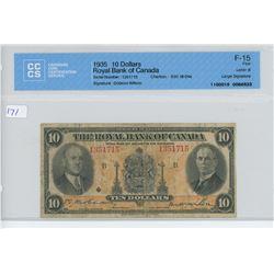 1935 - $10.00 BILL ROYAL BANK - CCCS
