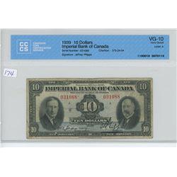 1939 - $10.00 BILL - CCCS